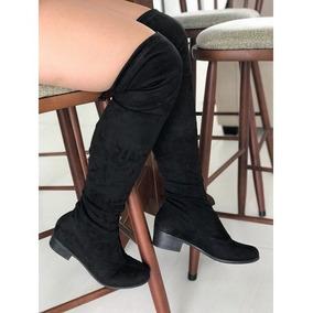 045333e3c Bota Zatz Feminina Stretch Over Knee Cano Alto Suede 394
