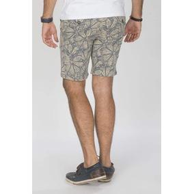 Bermuda Short Hombre Cortas Floreada Moda Beige Slim G70120