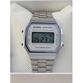 Reloj Casio A168 Plata Silver Con Caja