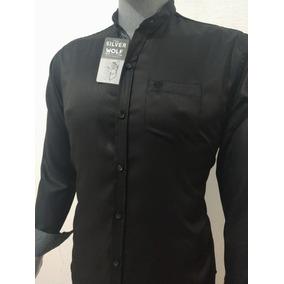 Camisa Cuello Mao Para Hombre Silver Wolf By California22