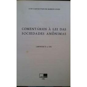 Comentários À Lei Das Sociedades Anônimas (arts. 52 A 120)