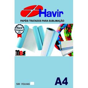 Papel Transfer Sublimatico A4 Fundo Azul 500 Fls Havir 110g