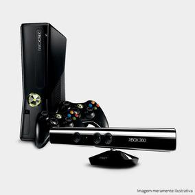 Xbox 360 Slim Ltu+ Kinect + 2 Controles - Roda Qualquer Jogo