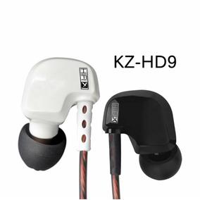 Fones Auriculares Kz 09 Drives + Case