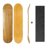 Shape Skate Street Liso Marfim + Lixa Nacional Norton