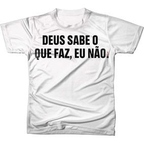 Camiseta Frases De Deus Camisetas Manga Curta No Mercado Livre Brasil