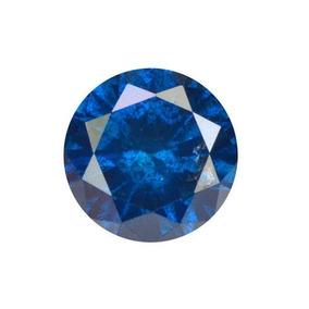 Diamante Azul Certificado .20 Quilates3.46x2.26mm
