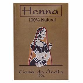 Henna Indiana Natural Casa Da India Pura 100% Natural