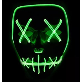Máscara Led Neon The Purge Darth Vader E Pânico