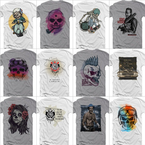 Camiseta Camisa Kit 2 Peças Caveiras Estampas Da Moda Barato b11c50aa306