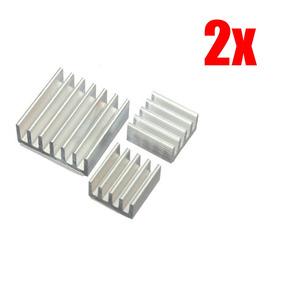 2x Dissipador Calor Raspberry Pi 2 Pi 3 C/ Adesivo Termico
