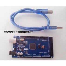 01 Arduino Mega 2560 R3 Com Cabo Automação Robótica