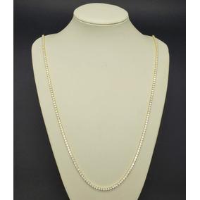 Colar Riviera Zirconias Cristal 90cm Banho Ouro 18k 4128