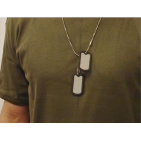 Gravação Personalizada Grátis Kit Dog Tag Nacional Marinha