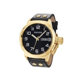 Relógio Magnum Masculino Em Couro Ma32756u