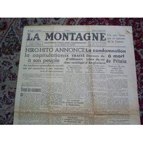 Jornal Francês Dia Da Rendição Do Japão Segunda Guerra 1945