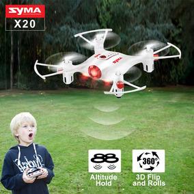 Drone Dron Syma Quadcotero / Retención De Altitud / Luz Led