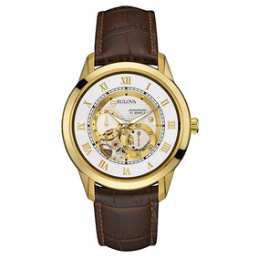 Relógio Bulova Automático 21 Jewels Couro Wb21874b