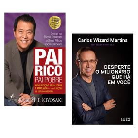 Kit Livros Pai Rico Pai Pobre + Desperte Milionário #