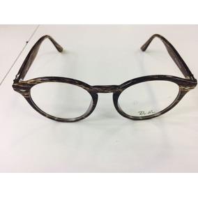 386e4db3142b5 Oculos Armação De Grau Redondo Rajado Marrom Geek -rb401