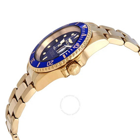 Relógio Invicta Pro Diver Dourado E Azul 40 Mm Original