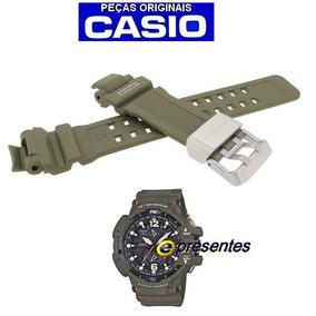 ea5e886428a Pulseira Original Gw-a1100 Kh-3a Casio G-shock Resina Verde