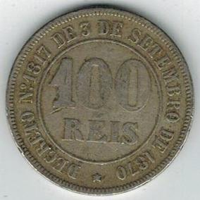 Moeda De 100 Réis De 1871