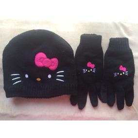 Gorro Y Guantes De Hello Kitty Para Niña Originales Invierno 23a76712079