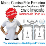 Molde Modelagem Camisa Polo Feminina Bolso - 1013b 88172b29d387b
