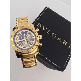 1854b054035 Relógio Bvlgari Subaqua Skeleton Dourado Prata Liquidação!