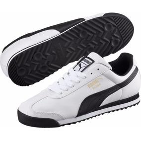 fdbb2f879 Tenis Puma Roma Basic 353572 04 Blanco Negro