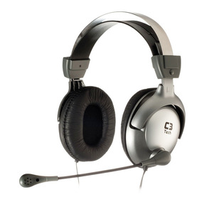 Fone De Ouvido Headset Gamer C3tech Raptor Mi-2870rs Pc Note