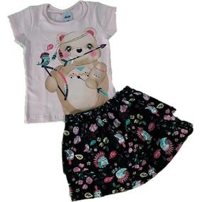 Conjunto Feminino Infantil Elian - Vários Modelos