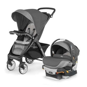 Chicco Carriola Bravo Travel System Silhouette, Color Gris
