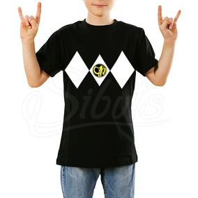 Playera Para Niño Power Ranger Black Varias Tallas