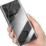 Funda Inteligente Flip Espejo Huawei Y5 Y6 Y7 Y9 + Cristal