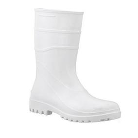 aab2c95c3daff Bota De Pvc Cano Extra Curto Branca Com Ca Bracol - Calçados