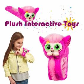Pelúcia Pet Macaco Para Crianças,little Live Wrapples,rosa