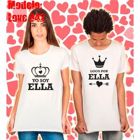 Dúo Playeras San Valentín Yo Soy/loco Por Ella