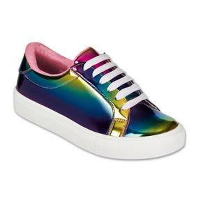 Calzado Kids Niña Tenis Casual Tropicana Charol Multicolor