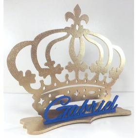 15 Centro De Mesa Realeza Coroa Festa Menina Pintados