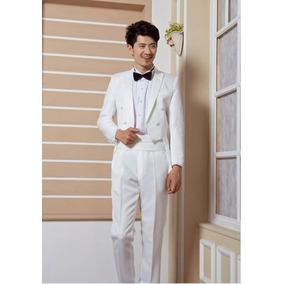 Lindo Terno Meio Fraque Branco Masculino Formatura Casamento
