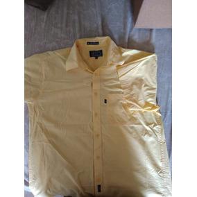Camisa Casual Fit Amarilla Manga Corta Grande Amplia Ligera