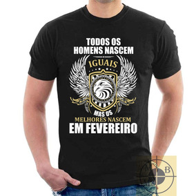 Camiseta Aniversario Fevereiro - Camisetas Manga Curta no Mercado ... 592011ff641f2