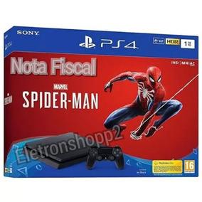 Console Ps4 Slim 1tb + Jogo Spider Man + Nota Fiscal