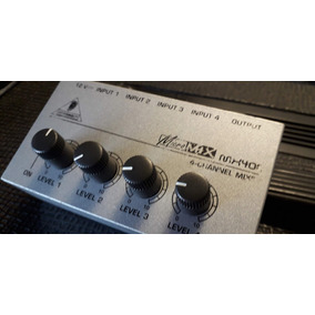 Mixer Micromix Mx400 4 Canais Behringer + Fonte Shure