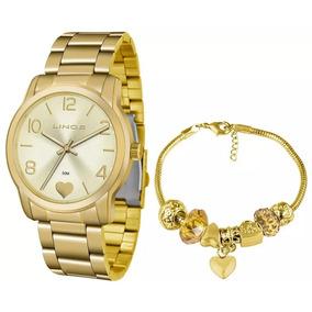f6dd4ad6ba3 Relógio Lince Feminino Lrg4553l Ku83 Dourado Coração