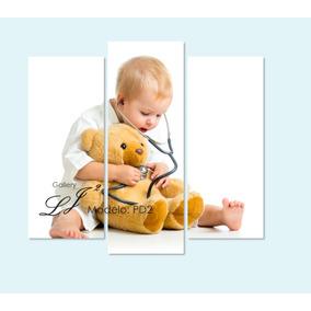 Cuadro Para Consultorio De Pediatra Pediatría Niño Con Oso