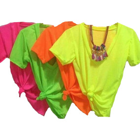 Blusa Neon Podrinha Blusinha Moda Carnaval T-shirt 2019