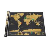Mapa De Rascar Mundo Negro Scratch Deluxe Grande 82.5x59.5cm